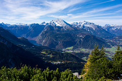 Mountains (BlaL) Tags: mountains mountain landscape bavaria german lake nikon autumn fall tree trees color panorama