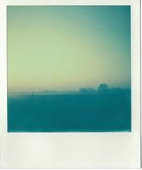 Infiamma #1 (Langue.) Tags: polaroid color filmfuji bologna autostrada tramonto sunset landscape campi