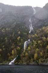 Naeroyfjord Falls (worm600) Tags: norway flm flam aurlandsfjorden naeroyfjord nryfjord aurlandsfjord fjord
