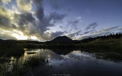 Coucher de Soleil sur la mare (Olivier .C Photographies) Tags: reflexion mare coucher de soleil clouds summer landscape sunset volcano mountains lake