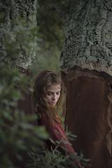 Chiara #6 (edgardomaxia) Tags: people beautiful beauty wood autumn portrait girl cute pretty eyes red green hair bokeh 50mm