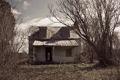 thru (History Rambler) Tags: old abandoned rural antebellum house cabin shack decay nc home forgotten lonely logs dormers