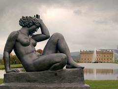Naked at Chatsworth (Tony Worrall) Tags: palace royal seat duke place sculpture statue art view event show exhibition location chatsworthhouse gardens items photos derbys derbyshire devonshire uk england english iconic scene pretty nice beauty sale beyondlimits sothebysbeyondlimits beyondlimitschatsworth2016 artworks works arty naked lady nude bronze woman figure