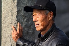 Grandfather at the Great Wall (Robert Borden) Tags: outside portrait person grandparents grandfather greatwall asia china beijing canon