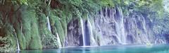 Water Wall (rubberducky_me) Tags: croatia waterfall lake water forest rainforest blue green limestone linhof linhoftechnorama velvia film panorama