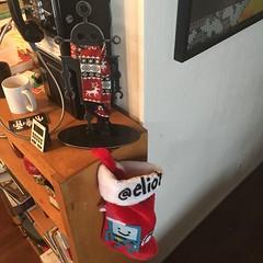 Tesla and BMO (RobotSkirts) Tags: bmo stocking tesla robot sculpture scarf holiday decoration christmas