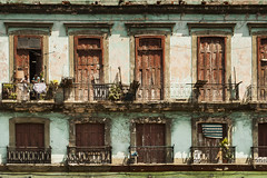 a broken but pretty mess (timsnell) Tags: lahabana cuba architecture balconies balcony buildings derelict habana havana street windows