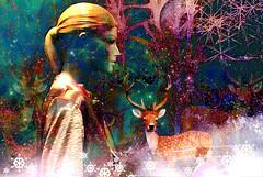 Winterwood (abstractartangel77) Tags: mannequin tree deer winter woodland
