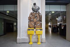 Bureau des plaintes (HBA_JIJO) Tags: streetart urban paris art france hbajijo wall mur collage pasteup levalet murale paper mural urbain papier encre quai36 box letters lettres boites la poste postale humour humor