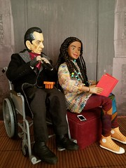 """[3] """"...so we have to know all sorts of things, for any eventuality-- oh, i seem to have finished the last plait!"""" (Nata Luna) Tags: alisoncheney shalkadoctor screamoftheshalka wheelchair hair hairbraiding friendship fondness trinlayksweater trinlaykknitting shalkaverse dweu"""