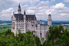 Neuschwanstein (andreaskoeberl) Tags: blue green castle tourism clouds germany bavaria nikon king forrest cloudy medieval monuments neuschwanstein hohenschwangau allgu d7000 nikond7000 andreaskoeberl