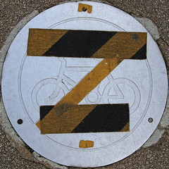 No cycling (Leo Reynolds) Tags: bike bicycle sign canon eos iso100 cycling cycle 7d squaredcircle f80 signsafety signno 47mm hpexif 0011sec signnosmoking signcirclebar xleol30x sqset077