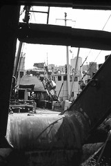 Through the eye of a cable laying ship (Fred J Carss) Tags: port docks greenock ships 1968 cablelayer
