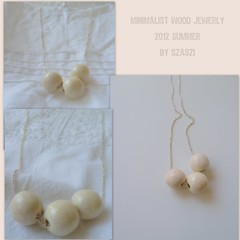 2012 Minimalist wood necklance trio (szilviaszabo91) Tags: wood summer natural handmade cream jewelry bead minimalist necklance 2012new