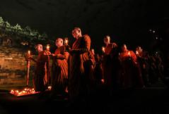 borobudur_jalan_lilin (IMAM HARTOYO) Tags: light red sky moon night indonesia java walk buddha stupa smoke centre super yogya borobudur lampion magelang bikkhu waisak pradaks
