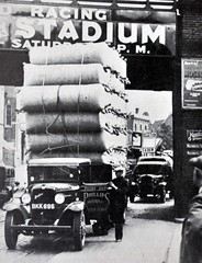 1930's Overload, Just Made It... (colinfpickett) Tags: blackandwhite bedford 1930s memories streetscene lorry classictruck loaded vintagetruck daysgone