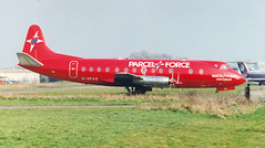 Vickers Viscount, BAF/Parcel Force. (piktaker) Tags: uk turbo essex southend baf sen turboprop vickers southendonsea viscount parcelforce gopas egmc londonsouthendairport