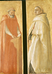 Saint Jerome and the Holy Carmelite, Saint Augustine and the Holy Carmelite (3 & 4 / 4) (Ellis Art History) Tags: wood berlin religious italian renaissance masaccio 15thcentury quattrocento italianrenaissance berlinstatemuseums ellisarthistory
