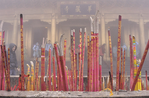 Incense at golden peak - Emei Mountain