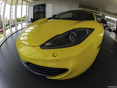 go fish (hushypushy) Tags: fisheye mclaren headlight 13 coupe 2013 gopro parkingsensors mp41 hero2 mp412c volcanoyellow