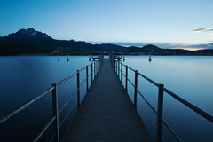 jetty (big stopper) (scubaluna) Tags: longexposure mountain schweiz switzerland see pier 10 jetty perspective luzern pilatus railing lucerne vierwaldstttersee lido steg mountainrange langzeitbelichtung weitwinkel verkehrshaus olympusesystem leefilters bigstopper scubalunaphotography