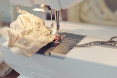 in my sweatshop (Ragazza*) Tags: sewing rosebuds shabbychic handmadedress petitewanderlings