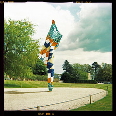wind sculpture (pho-Tony) Tags: park sculpture color colour 120 6x6 film square landscape xpro pattern fuji cross wind crossprocess yorkshire arts shift plastic velvia fabric council wakefield roll cloth process e6 glitch reflector bretton ysp shonibare 620 rvp fabrication yinka mbe rollfilm iso50 586 kodakbrowniestarmatic fujirvp brownieflash20 6cmx6cm yinkashonibarembe kodakbrownieflash20 multicamsource rvp586