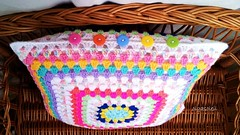 Granny Cushion (Olga Soleil) Tags: crochet cushion crochetcushion grannycushion