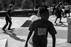 Paine's Park Opening Day 9 (phillytrax) Tags: city shadow urban blackandwhite bw usa philadelphia boys monochrome kids youth america unitedstates skateboarding pennsylvania teens skaters pa skatepark africanamerican philly grayscale fairmountpark cityofbrotherlylove schuylkillbanks painespark