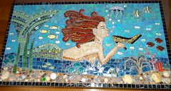 Mosaic Mermaid, grouted (ree-creation-mosaics) Tags: mosaic mermaid