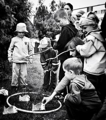 Fishing game (Micha Koralewski - mobile photography) Tags: blackandwhite iphone iphoneography touchretouch snapseed