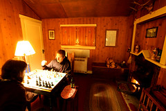 Cabin Chess (David K. Werk) Tags: game night relax fire evening cozy cabin fireplace rustic relaxing chess indoor inside