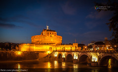 Castel Sant'Angelo, Rome (Christopher Chan) Tags: bridge sunset italy rome canon river europe tiber bluehour 1022mm hdr castelsantangelo 30d