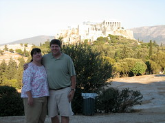 175 - Scott & Jaime & Acropolis (Scott Shetrone) Tags: family people other events places athens parthenon greece monuments acropolis 5th anniversaries filopapposhill jaimeshetrone scottshetrone thepnyx