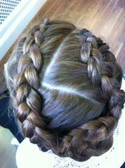 Hair Styling (Emma_Morris Hair and Make up) Tags: ponytail plaits periodhair weddinghair fishtailplait