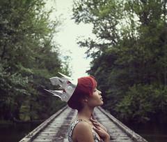 (~Wisteria~) Tags: bridge portrait girl canon river model woods adobe crown prop