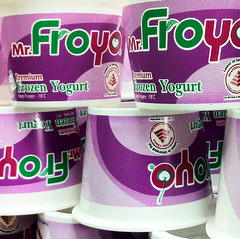 พิมพ์ถ้วยไอศครีัมโยเกิต Screen Print | Frozen Yogurt Cup | Mr.Froyo Non toxic color
