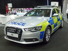 Audi A6 Police (Emergency_Vehicles) Tags: blue light june amber police exhibition telford national fleet audi a6 association managers demonstrator 2013 napfm