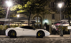 Bianco 458 (ExoticCarsParis) Tags: auto black paris france car night 5 sony ferrari f bianco ff supercar 430 nex 458