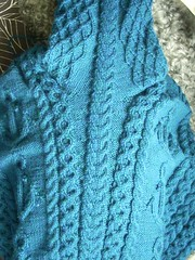 """Mystic"" sweater: side and sleeve seam (Asplund) Tags: sweater knitting cascade mystic trja starmore stickning"