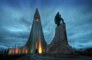 Hallgrímskirkja. Reykjavik. Iceland.