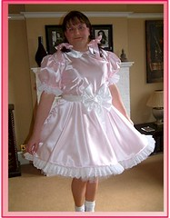 pink and white sissy (shellyanatine) Tags: pink dress crossdressing sissy petticoat frilly
