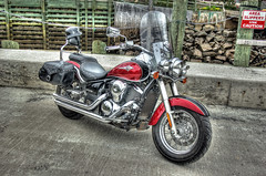 Red motorbike (elementalPaul) Tags: canada novascotia pentax motorbike freehand hdr hallsharbour photomatixpro 5xp k10d pentaxk10d