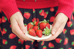 Love Strawberry (lispon) Tags: red food color green love fruit canon print dessert sweater strawberry colorful day hand dress sweet amor blouse delicious sweatshirt morango doce vestido suter