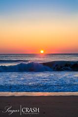 Sunrise (OmegaMoth) Tags: ocean morning pink blue red sea summer sky orange sun sunlight beach water colors beautiful yellow sunrise gold nc sand nikon waves purple northcarolina dslr outerbanks killdevilhills d7000 nikond7000 sugarcrashphotography