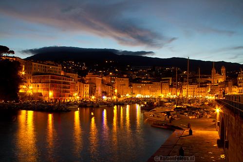 Bastia marina by night