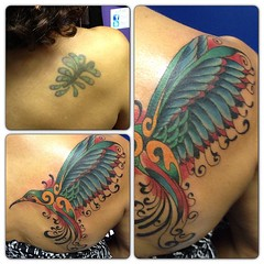 Cover up #hummingbird #birdtattoo #coverup