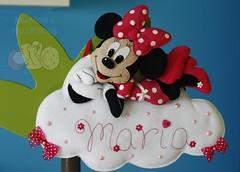 Minnie Mouse (Mimos & Feltrices) Tags: mouse rosa felt disney porta quarto minnie feltro menina enfeite
