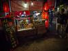 Yangshuo Streets (Michael Steverson) Tags: china street red woman girl asian lights asia yangshuo chinese lanterns chinadigitaltimes characters vendor guangxi