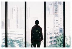 (marcma / 馬克馬 /) Tags: hk film hongkong back olympus r 香港 香港大學 om1n 落地窗